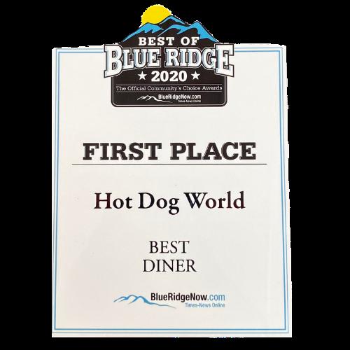 Best of Blue Ridge 2020 Best Diner